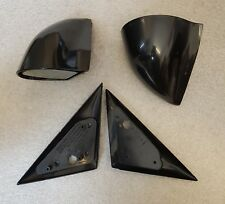 Black Manual DTM Style Mirrors & Base Plates fits BMW E46 2 Door Models