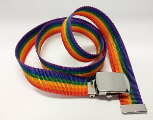 Regenbogen Gürtel, ca. 115 cm, rainbow belt gay lesbian LGBTQ pride queer, NEU