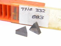 NEW SURPLUS 4PCS. CARBOLOY  TNG  332  GRADE: 883  CARBIDE INSERTS