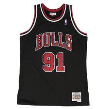 Dennis Rodman Chicago Bulls Mitchell   Ness Swingman Jersey Black L 27d39e677