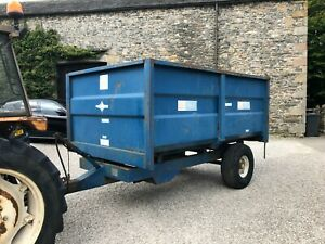 #B1168 AS Marston 6 tonne tipping grain / muck / silage trailer Stables Delivery