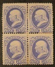 Scott#: 145 - Benjamin Franklin, Block of Four MHOG SCV3,500 w/2011 PSAG
