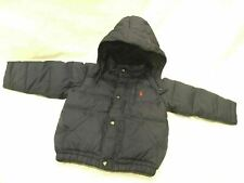 Polo Ralph Lauren 24M Boys Winter Coat With Cold weather Hood Navy LoHead LoLife
