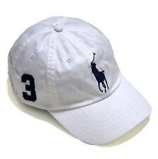 Polo Ralph Lauren Mens Pony Logo Baseball Cap Hat One Size White  889697003934 c386aafafd45