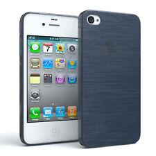 Schutz hülle für Apple iPhone 4 / 4s Brushed Cover Handy Case DUNKELBLAU