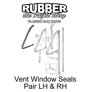 1952 1953 1954 Ford Mercury Vent Window Seal Kit - 4 pc. - 2 DR HT / Convt