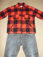 WOOLRICH Men's Vintage WOOL Zip Front Jacket 46 XL Flannel Hunting USA Made