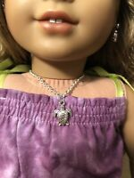 Silver Turtle Charm Necklace for 18 Inch Doll American Girl Doll Lea Jewelry