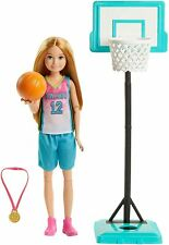 NEW! 2020 Barbie Sister Stacie Basketball Doll Play Set ~ New In Box