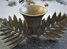 Kerzenständer•Tolles Design•Messing? Bronze?•Blätter Dachbodenfund Rarität 1,2kg