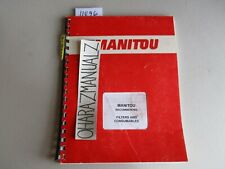 MANITOU Recommended Filters & Consumables Manual