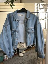 Denim cropped Topshop  Womens Jacket Size 10