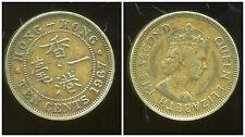 HONG KONG  10   ten  cents 1967  ( bis )