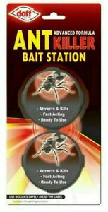 Doff Ant Killer Trap Stop Bait Stations Destroy Ants Nests 2 x 10g