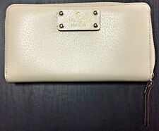 KATE SPADE Large Continental Wallet Leather Ivory - BEAUTIFUL!