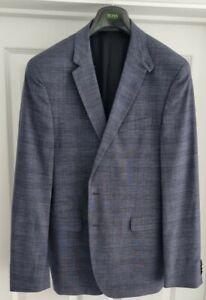 Hugo Boss Blazer Mens Blue Check 44 Reg (44R) Excellent Condition