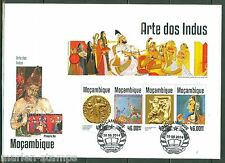 MOZAMBIQUE 2014  ART OF INDIA  SHEET  FIRST DAY COVER