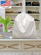 "White Satin Dust Bag Covers Dustproof Drawstring Storage Large Hand Bags 20""x20"""