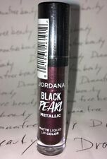 Jordana Black Pearl Metallic Matte Liquid Lip Color in 01 *HOCUS POCUS PLUM* New