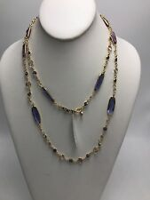 "$48 Anne Klein gold tone 42"" strand necklace J3"