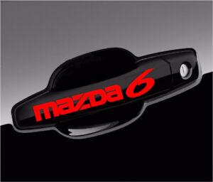Mazda 6 Decal For Wheels, Door Handle, Mirror Vinyl Stickers Graphics (8 pieces)