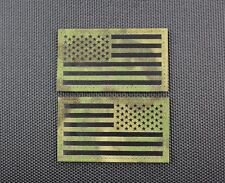 Infrared ATACS-FG US Flag Patch Set County SWAT SERT IR