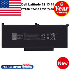 Battery For Dell Latitude 12 13 14 7280 7290 7380 7390 7480 7490 DM3WC F3YGT