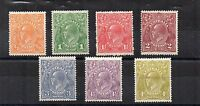 Australia 1926-30 Sideface values to 4 1/2d MH