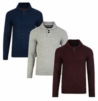 Threadbare New Men's Crew Neck Collar Jumper Knitted Wool Blend Pullover Sweater