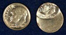 1985-D & 1985-P 10c Roosevelt Dimes Off Center/Mistruck Error Coins