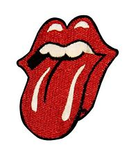 The Rolling Stones Red Tongue Licensed Embroidered Iron On Applique Patch p929