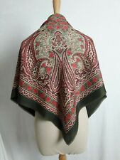 N59 GRAND FOULARD CARRE CHALE type étamine polyester 90x90cm SQUARE SCARF Shawl