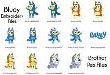 BLUEY Brother Machine Embroidery Designs PES CD,USB
