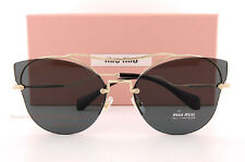 Brand New Miu Miu Sunglasses MU 52SS ZVN 1A1 Gold Black/Gray For Women