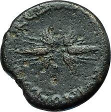 ANTONINUS PIUS 155AD Macedonia Koinon Ancient Roman Coin ZEUS THUNDERBOLT i66242