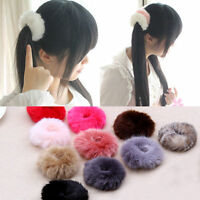 1PC Fluffy Fur Elastic Hair Band Womens Girls Pom Scrunchie Hair Accessories