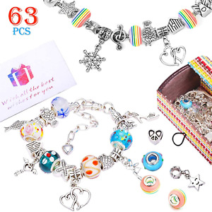 Jewellery Making Kit, Girls Charm Bracelet Making Kit DIY Jewellery Making, 60 3