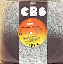 """NEIL DIAMOND - FOREVER IN BLUE JEANS - RARE 7"""" 45 PROMO VINYL RECORD - 1978"""