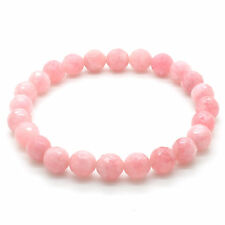 Rose Quartz Crystal 8mm Natural Gemstone Elastic Stretch Bead Bracelet