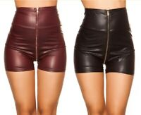 Koucla High Waist Wetlook Shorts Hotpants