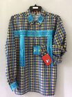 NATIVE AMERICAN INDIAN REGALIA*NAKODA MADE* BLUE  POW WOW RIBBON SHIRT 2 SIZES
