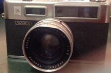 Yashica Electro 35mm Camera, Yashinon-Dx 1:1.7, Vivitar Shutter Cord & Flash