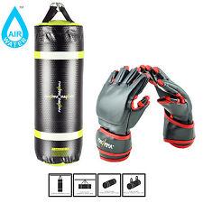 MaxxMMA Training & Fitness Heavy Bag with Gloves, Boxing Punching Kicking MMA