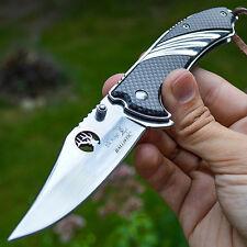 """8"""" ELK RIDGE Carbon Fiber SPRING ASSISTED OPEN Hunting FOLDING POCKET KNIFE"""