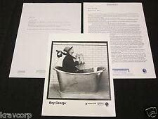 BOY GEORGE 'ESSENTIAL MIX' 2000 PRESS KIT--PHOTO