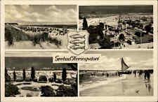 Heringsdorf Usedom DDR AK 1957 Mehrbildkarte Ostsee Meer Strand Küste Menschen