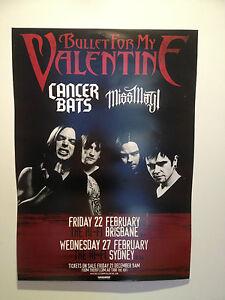 BULLET FOR MY VALENTINE 2013 Australian Tour Poster A2 Brisbane Sydney ***NEW***