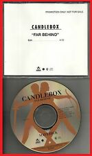 ★ MAXI CD CANDLEBOX Far behind 1-track jewel case PROMO   ★