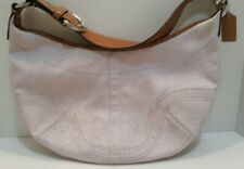 Coach signature soho canvas leather shoulder bag violet