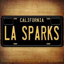 LA Sparks WNBA Basketball California Aluminum Vanity License Plate Black